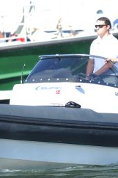 Selena Gomez Takes a Boat Ride in Saint-Tropez - July 2014