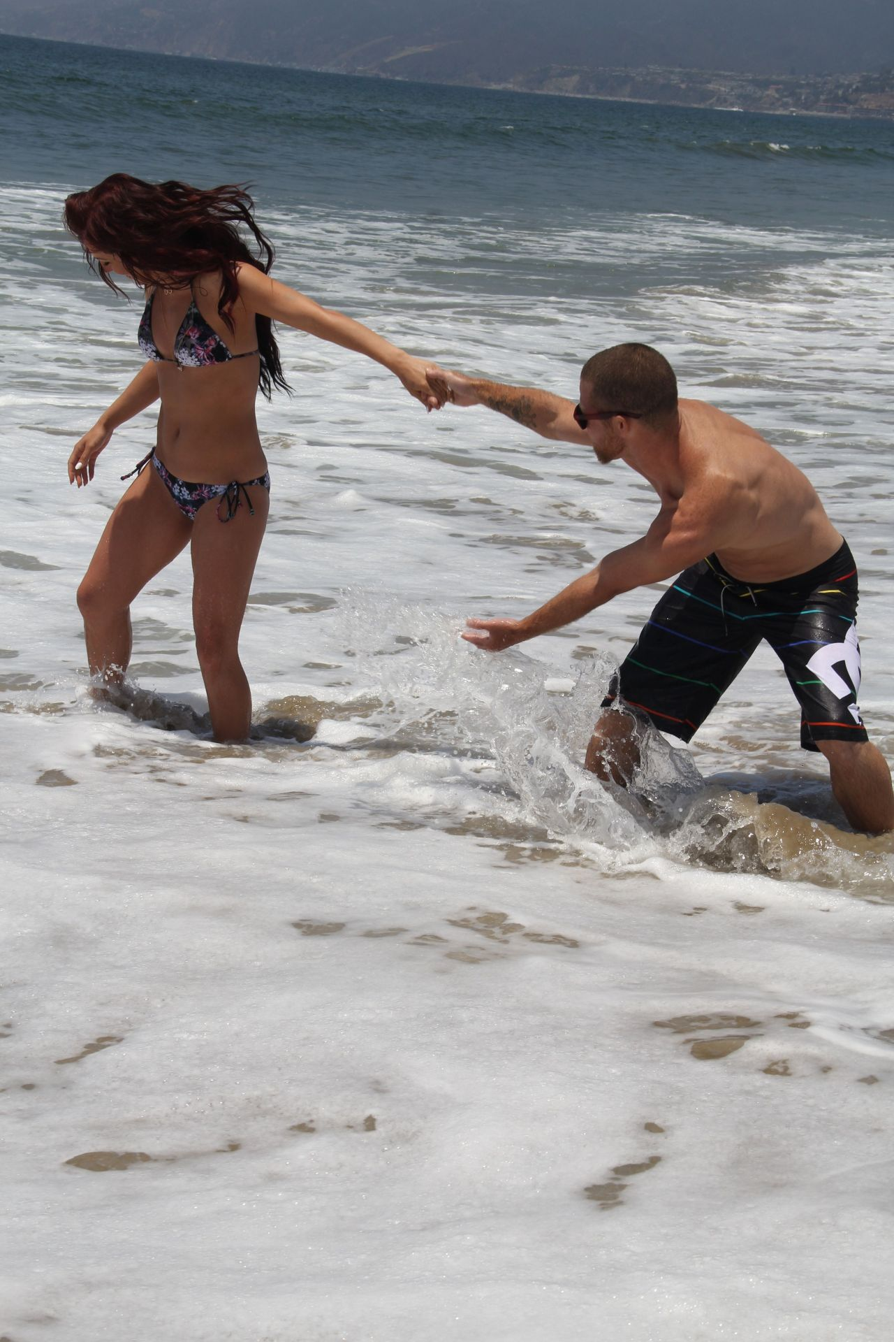 Sharna Burgess In A Bikini On The Beach In Malibu June 2014