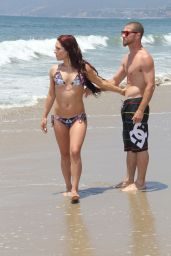 Sharna Burgess in a Bikini on the Beach in Malibu - July 2014