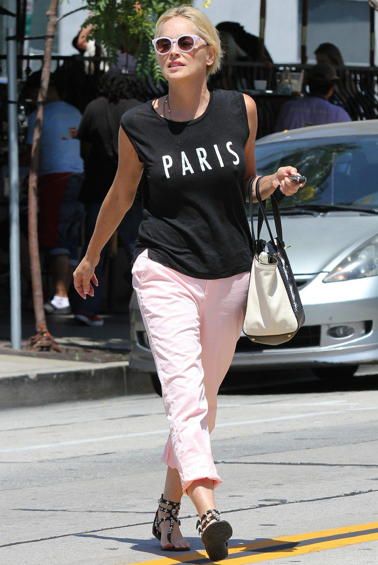 Sharon Stone Street Style Out In Los Angeles June 2014