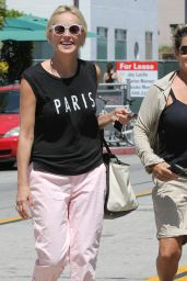 Sharon Stone Street Style - Out in Los Angeles - June 2014