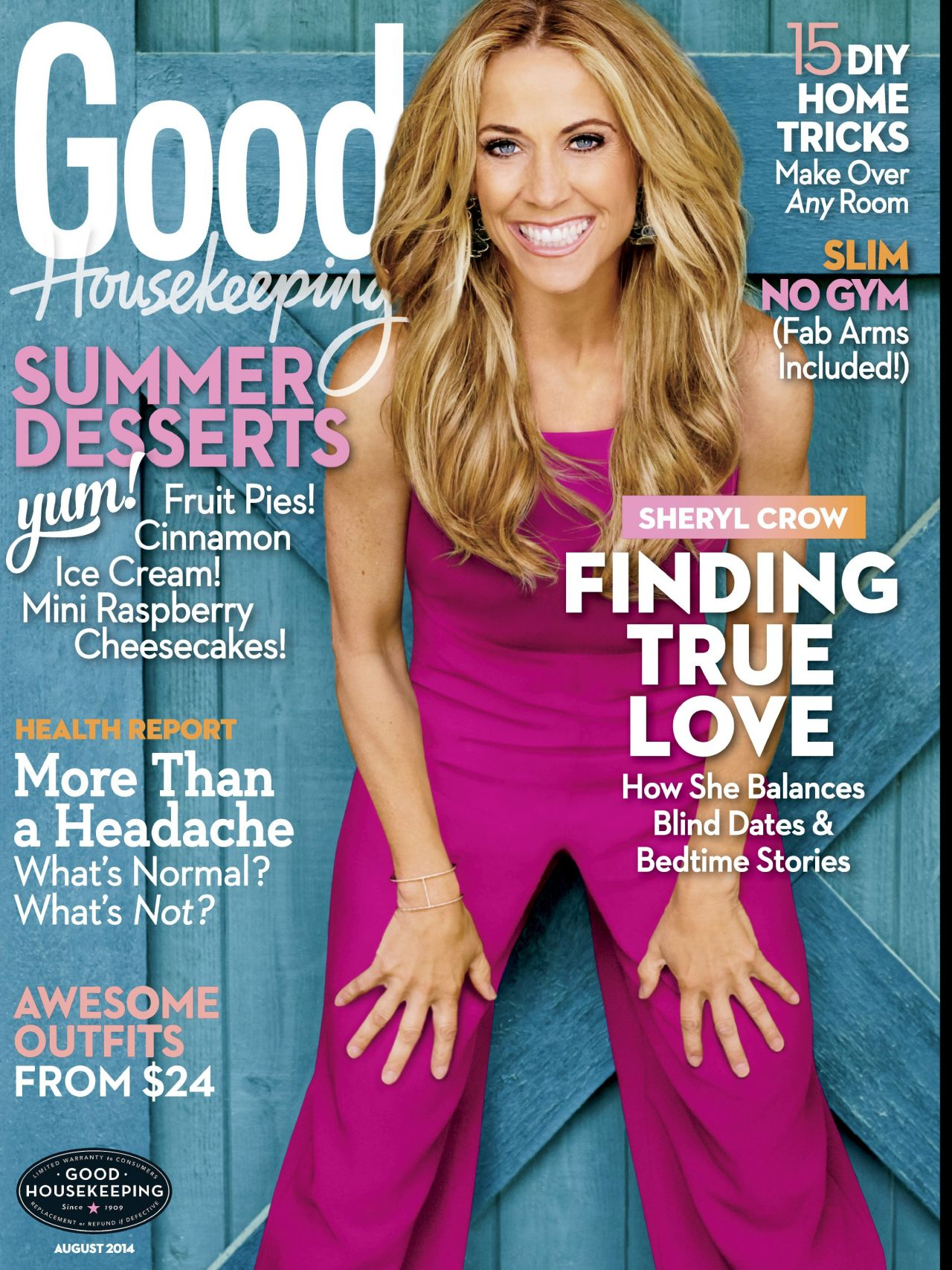 Sheryl Crow - Good Housekeeping Magazine - August 2014 Cover