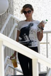 Sophia Bush Street Style - Grabbing Some Coffee at Starbucks in Hollywood - July 2014
