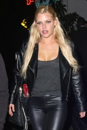 Sophie Monk Night Out Style - Leaving Chateau Marmont in West Hollywood - July 2014