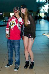 Sophie Turner Arriving at San Diego Airport - July 2014