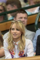 Suki Waterhouse and Bradley Cooper - 2014 Wimbledon Tennis Championships