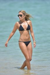 Sylvie Meis Hot Bikini Pictures - Beach in St. Tropez - July 2014