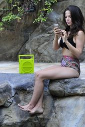 Tammin Sursok in a Bikini - Poolside in Los Angeles, July 2014