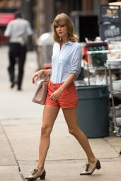 Taylor Swift in Shorts (boring) - Out in NYC, July 2014