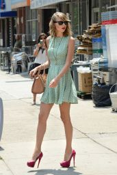 Taylor Swift Street Style - Out in New York - July 2014