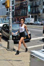 Taylor Swift Wearing Tank top and Shorts - Out in NYC - July 2014