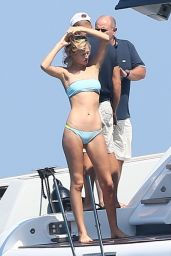 Toni Garrn in a Bikini on a Yacht in Saint Tropez - July 2014