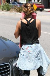 Vanessa Hudgens Street Style - Going to Yoga Class in Studio City - June 2014