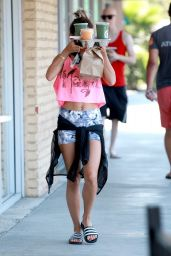 Vanessa Hudgens Summer Style - Out in Universal City in Los Angeles - July 2014
