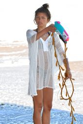 Zendaya Coleman Bikini Candids - Beach in Malibu, July 2014