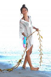 Zendaya Coleman Bikini Candids - Beach in Malibu, July 2014