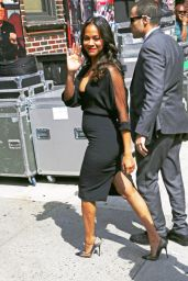 Zoe Saldana at The Late Show with David Letterman in New York City - July 2014