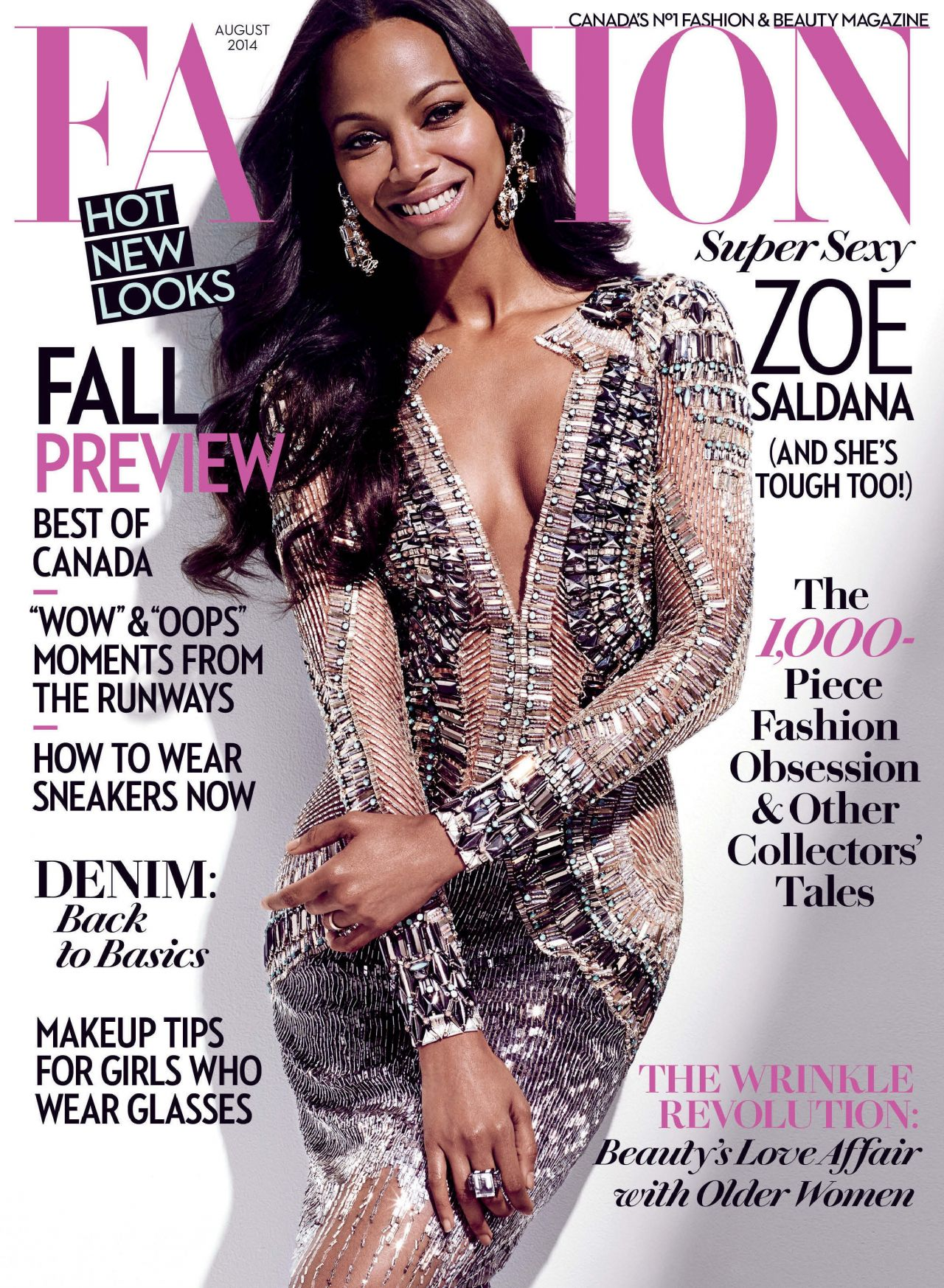 Zoe Saldana - Fashion Magazine (Canada) - August 2014 Cover