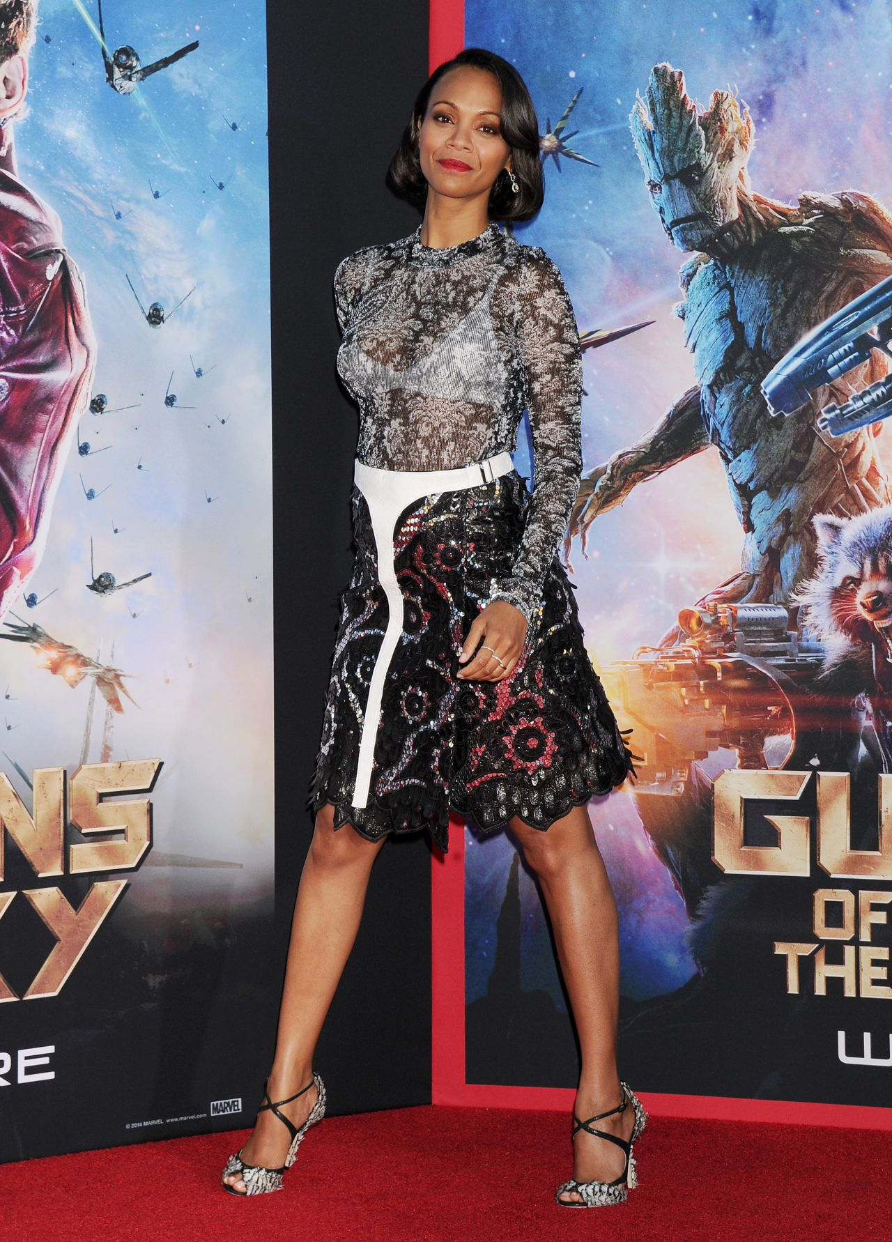 Zoe Saldana Guardians Of The Galaxy World Premiere In