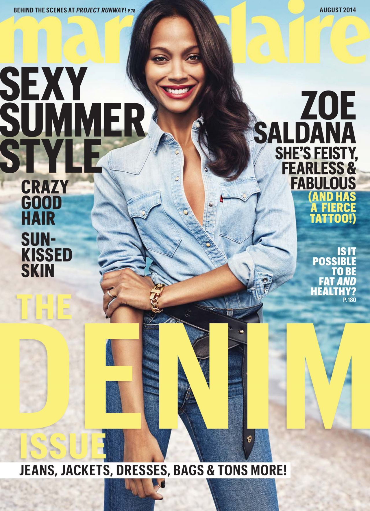 Zoe Saldana - Marie Claire Magazine - August 2014 Issue