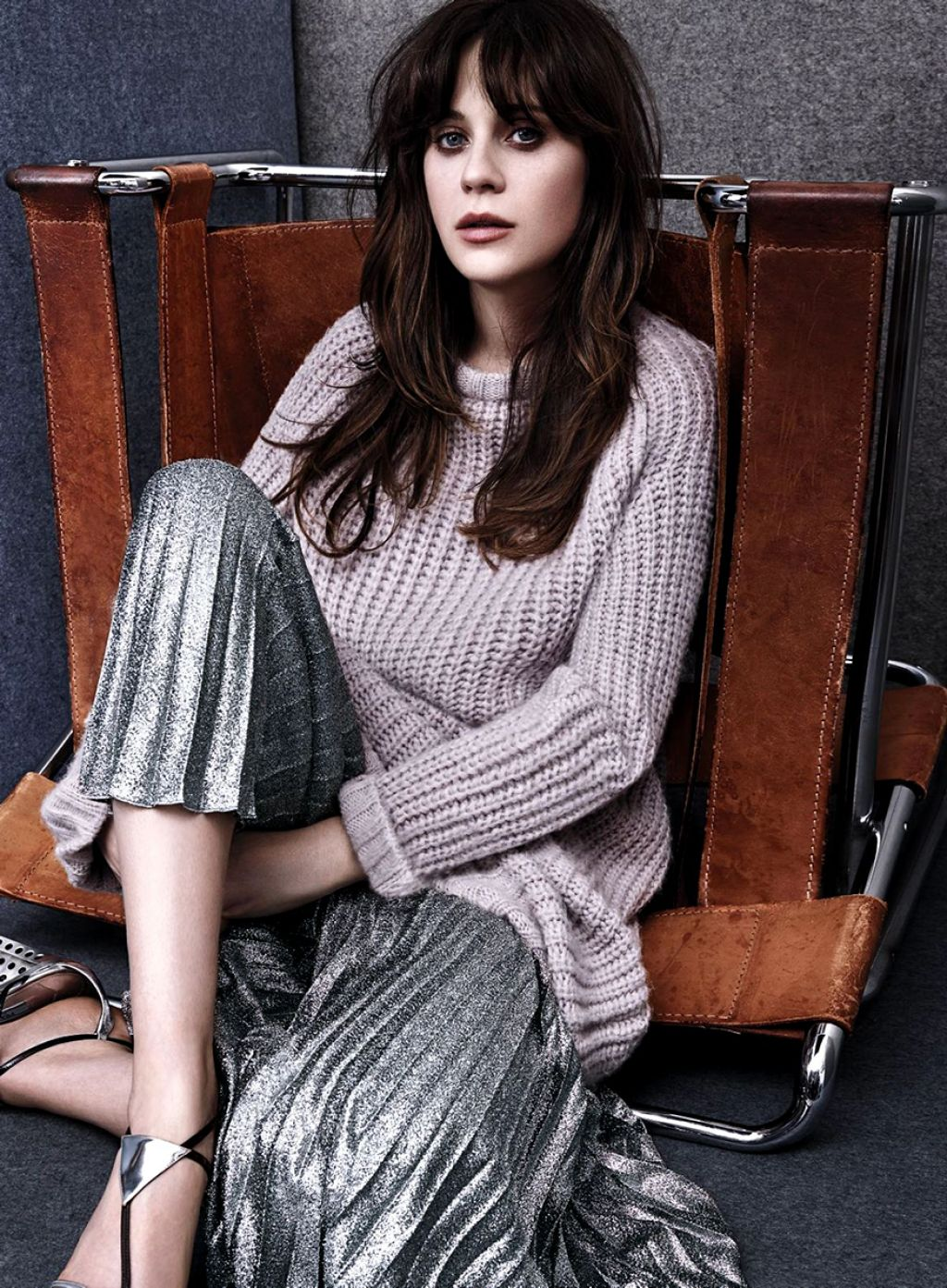 Zooey Deschanel Photoshoot for InStyle Magazine August 2014 Issue