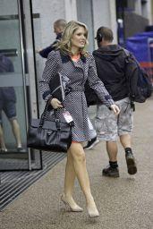 Charlotte Hawkins - Leaving the London Studios - August 2014