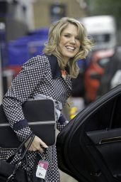 Charlotte Hawkins - Leaving the London Studios - August 2014
