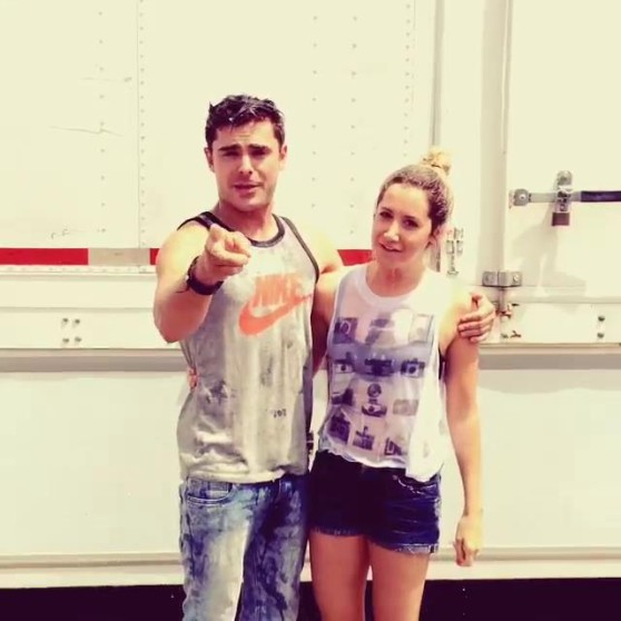 Ashley Tisdale with Zach Efron - Ice Bucket Challenge