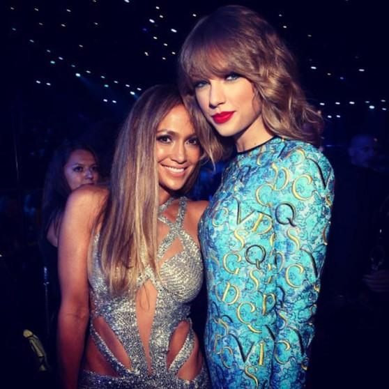 Jennifer Lopez With Taylor Swift, Rita Ora, Gwen Stefani - Instagram Pics, 2014 MTV Video Music Awards