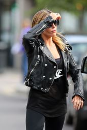 Abbey Clancy in Tights - Out in London - August 2014