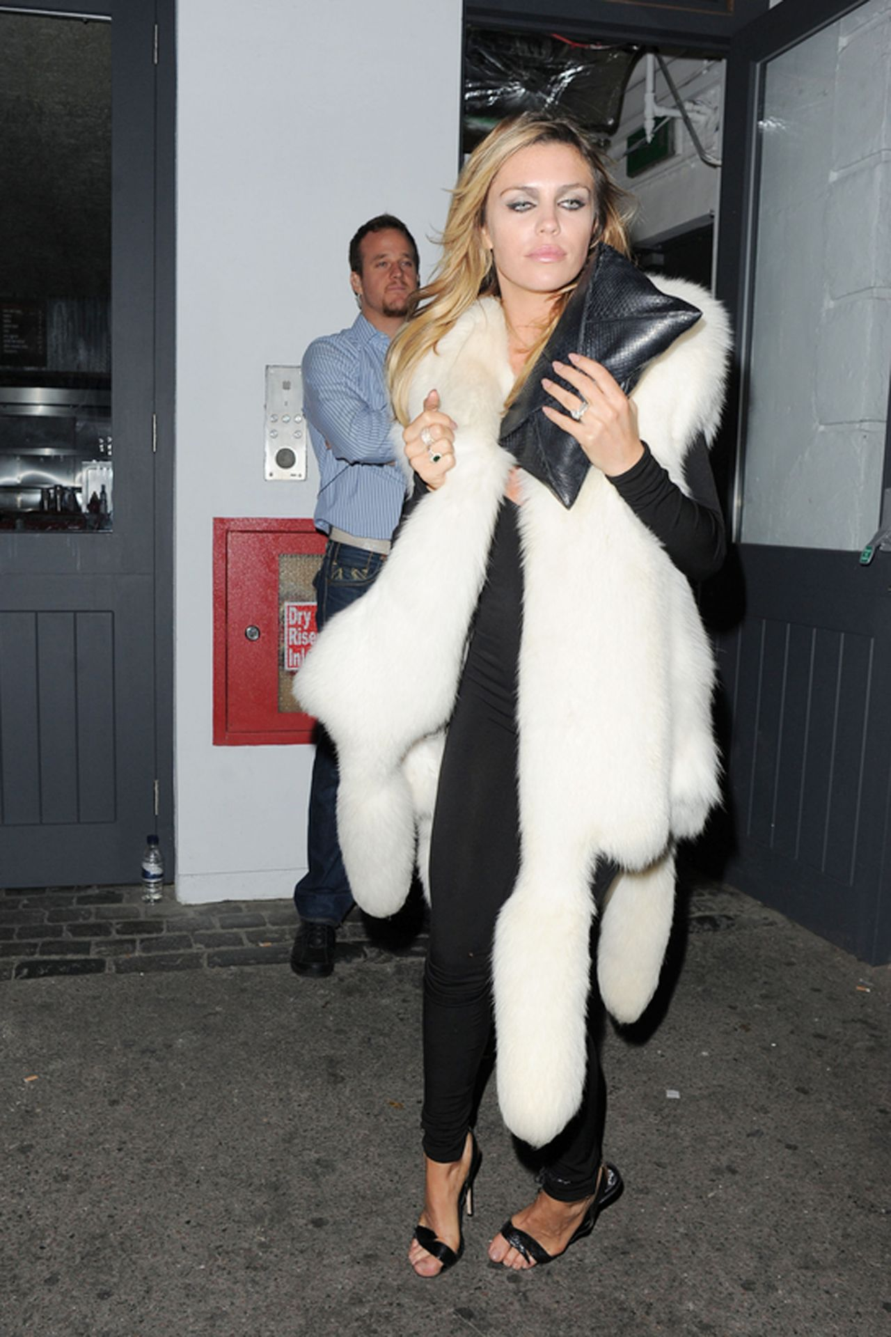Abbey Clancy Night Out Style - Nick Grimshaw Birthday in London - August 2014