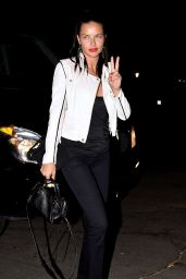 Adriana Lima - Arriving at the Rihanna and Eminem Concert in Pasadena - August 2014