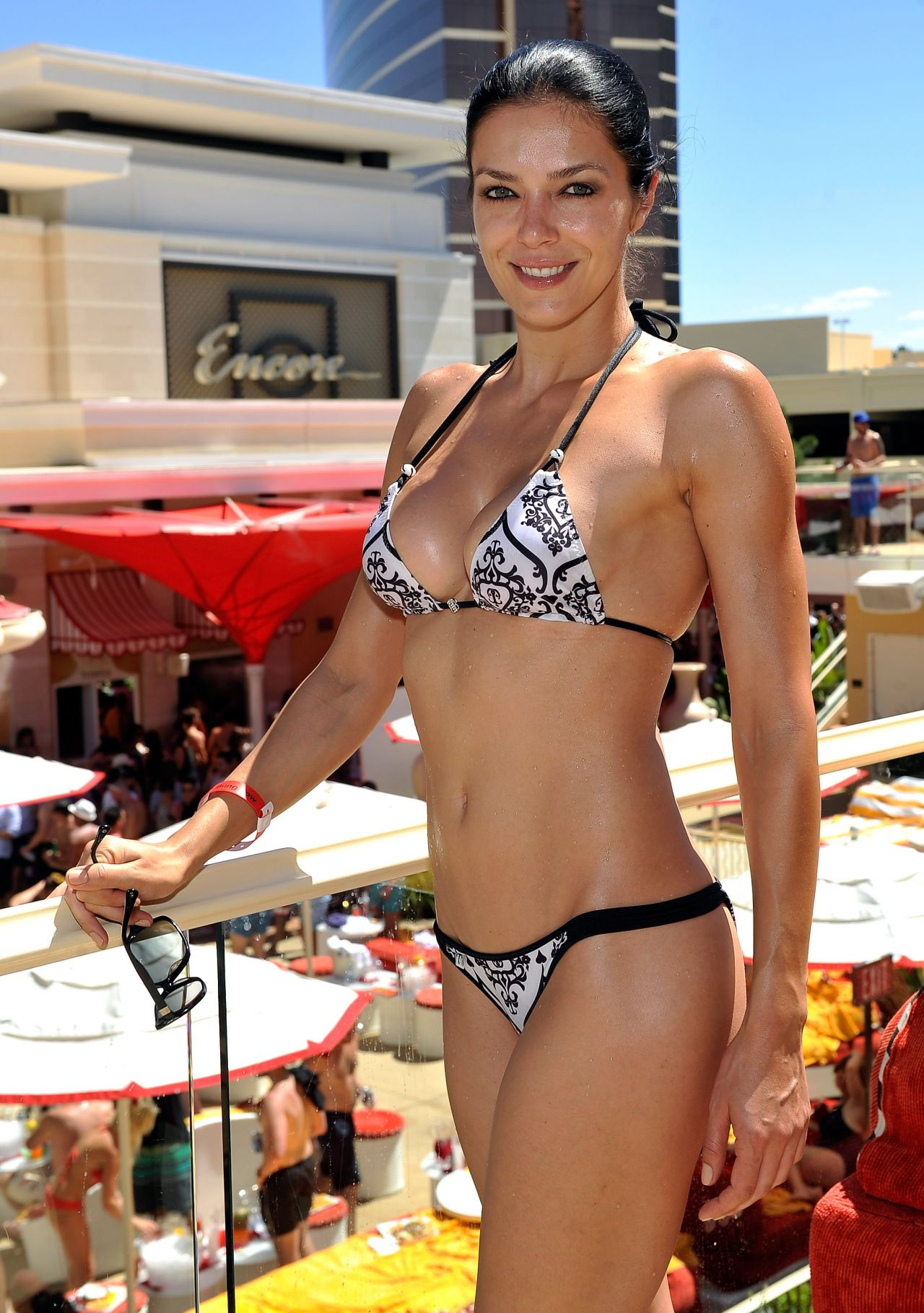 Adrianne Curry Bikini Photos - Encore Beach Club in Las Vegas - August 2014