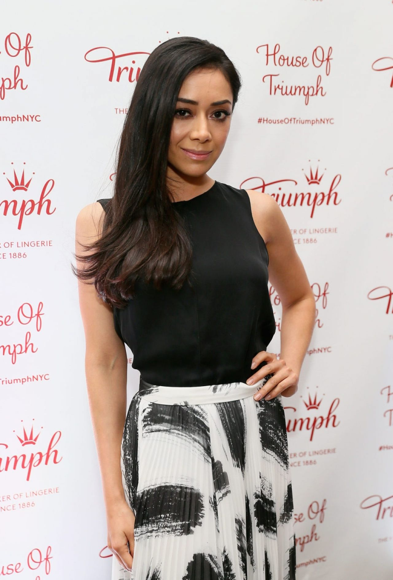 Aimee Garcia at Triumph Lingerie: Magic Wire Launch Event in New York City