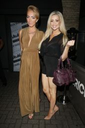 Aisleyne Horgan Wallace & Nicola McLean Night Out Style - Out in Essex, Aug. 2014