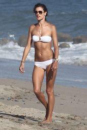 Alessandra Ambrosio Bikini Candids - Malibu, August 2014