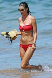 Alessandra Ambrosio in a Bikini in Hawaii - August 2014