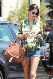 Alessandra Ambrosio in Jeans Shorts at Whole Foods in Brentwood - August 2014