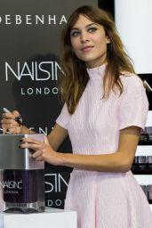 Alexa Chung - Launch of Alexa Manicure at Debenhams - August 2014