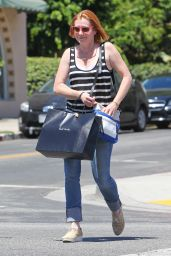 Alyson Hannigan in Jeans - Out in West Hollywood - August 2014