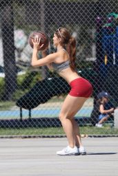 Amanda Cerny Plays Basketball in Beverly Hills - August 2014