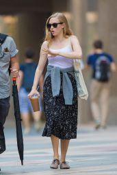 Amanda Seyfield Street Style - Out in Boston, August 2014
