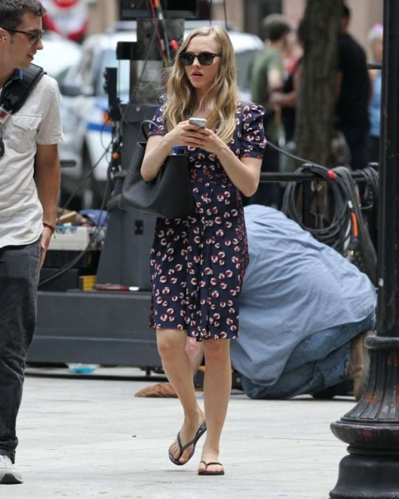 Seyfried on the set of ted 2 movie in boston august 2014