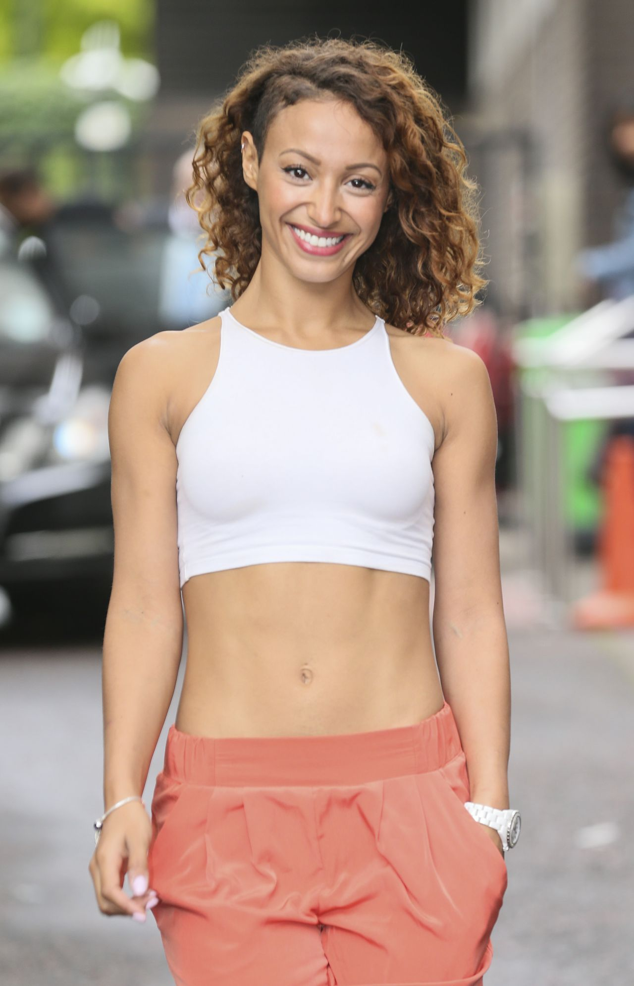 Amelle Berrabah at the ITV Studios in London - August 2014