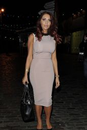 Amy Childs Night Out Style - Prive Blue Champagne Party in London - July 2014