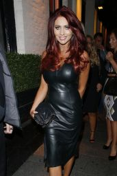 Amy Childs Night Out Style - Sugar Hut in Brentwood - August 2014