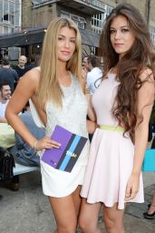 Amy Willerton and Her Sister Erin at TruTV Launch Party in London