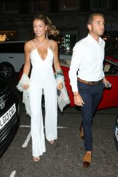 Amy Willerton Night Out Style - Mayfair, July 2014