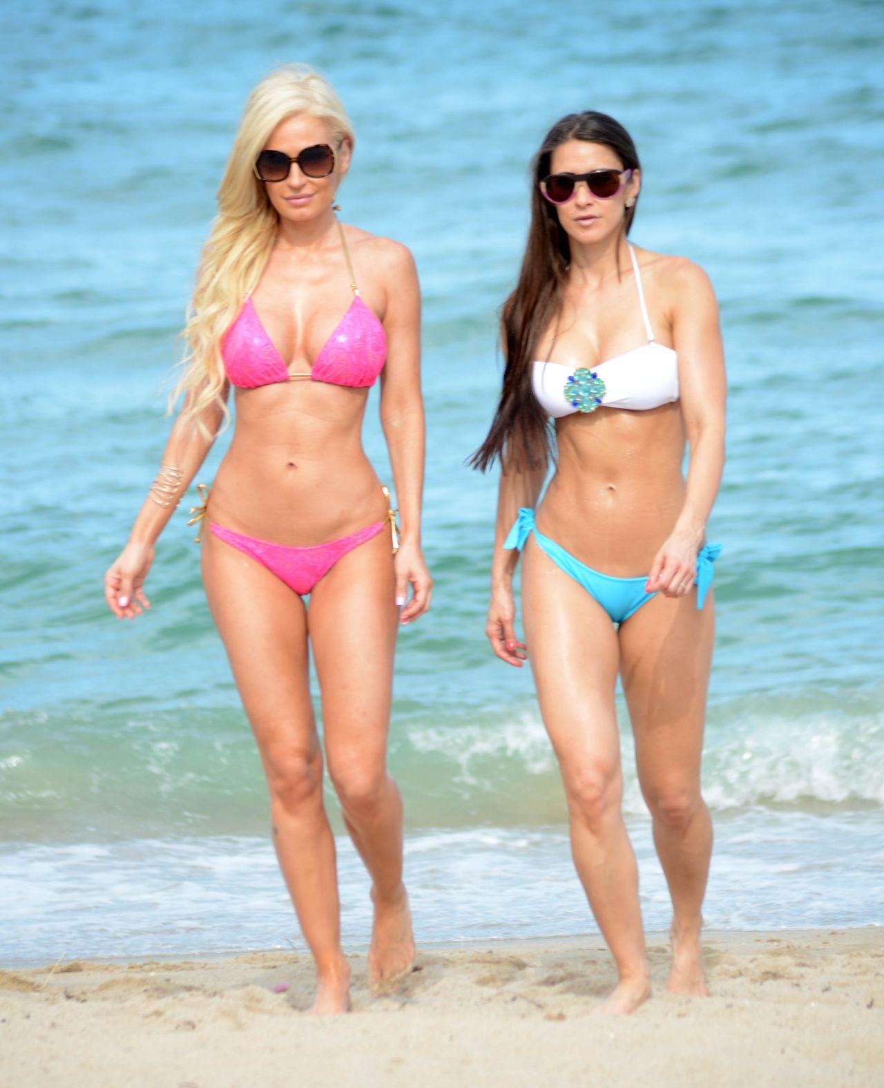 Anais Zanotti & Ana Braga in a Bikini - Beach in Miami - August 2014