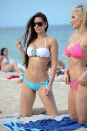 Anais Zanotti & Ana Braga in a Bikini - Beach in Miami - August 2014